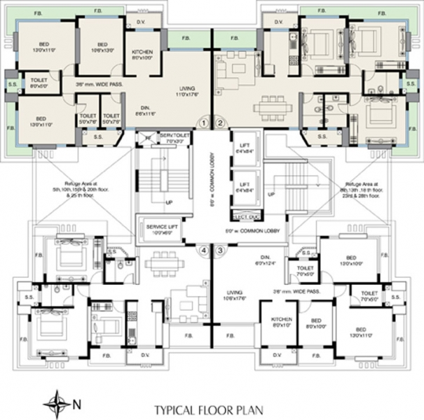 Wadhwa viceroy park dahisar west mumbai price location for Viceroy floor plans